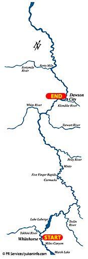 Yukon River Quest, Whitehorse to Dawson City, Yukon, 740km-460mi of paddling over three days.