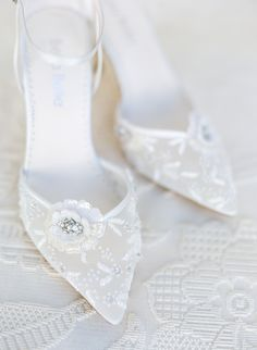 Make your dream wedding shoe a reality with Bella Belle wedding shoes. Handmade with floral beads, pearls and chiffon, Norah is even prettier in person. The perfect wedding heel to wear with your lace wedding dress. Photo: KT Merry Wedding Pumps, Wedding Shoes Bride, Bride Shoes, Boho Bride, Lace Wedding, Bridal Flats, Flower Shoes, Couture Wedding Gowns, Lace Heels