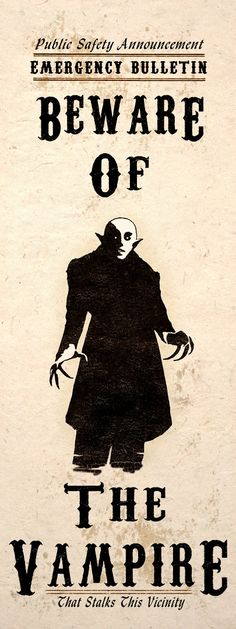 Gothic Horror Art Print Beware Nosferatu Vampire by TigerHouseArt Gothic Horror, Horror Art, Horror Movies, Horror Icons, Gothic Art, Dracula, Digital Art Illustration, The Dark Side, Vampire Art