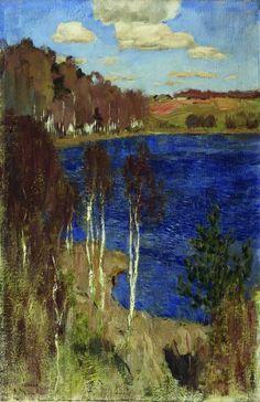 lake, spring: isaac levitan, 1898