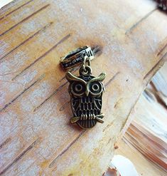 Owl Antiqued Brass ADD to your DREADS Dreadlock Accessory Extension Accessories Dread Boho Bohemaian Hippie Bead