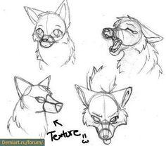 How to draw wolves (Мультяшный волк поэтапно)