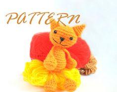 Crochet Amigurumi Pattern - Amigurumi Cat pattern - Crochet Cat pattern - Doll pattern - Crochet pattern - Amigurumi Animal - Animal pattern