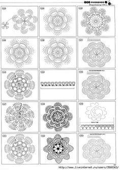 Crochet: pillow, pillow motifs and diagrams, crochet pillows, crochet diagram Filet Crochet, Beau Crochet, Crochet Diagram, Crochet Chart, Crochet Pillow, Crochet Cushions, Irish Crochet, Crochet Motif Patterns, Crochet Symbols