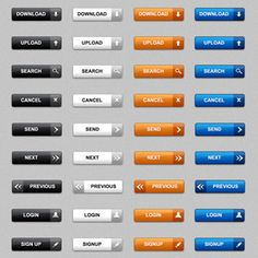Download web buttons in PSD