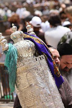 Torah scroll a family heirloom.