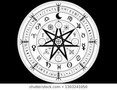 Wiccan Symbol Protection Set Mandala Witches Stock Vector (Royalty Free) 1355082218