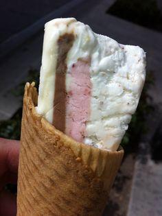 Cassata wedge ice cream- Los Italianos Granada' best ice cream ever! Granada Spain, Best Ice Cream, Spanish Food, Andalusia, Tapas, Dishes, Desserts, Wedge, Travel