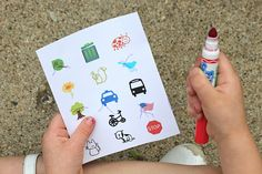 """Let's Take a Walk"" Scavenger Hunt. Free printable."