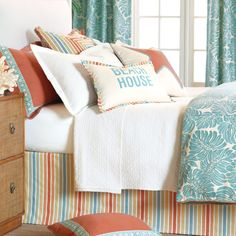Capri beach house bedding from Eastern Accents. Featured here: http://www.completely-coastal.com/2010/07/coastal-and-nautical-bedding.html