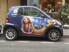 Disneyland Paris advertisement on a smart car!
