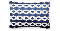 Ritu 14x20 Embroidered Pillow, Blue