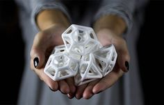 3D Printed Diamond:Gem Sugar Cubes by The Sugar Lab