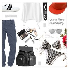 """""""Keep on Rollin baby"""" by arohii ❤ liked on Polyvore featuring Vichy, True Religion, Mother of Pearl, Borghese and Packandgo"""