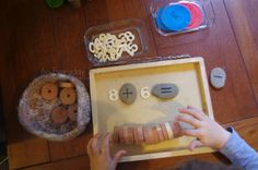 Preschool Math addition with loose parts An Everyday Story Math Explorations
