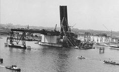 The first Brienenoordbrug being built. Rotterdam, The Old Days, Most Beautiful Cities, Back In Time, Old City, Statue Of Liberty, Netherlands, Holland, Dutch