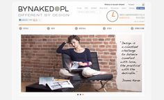 Webdesign for furniture importer. Visit online: www.bynaked.pl