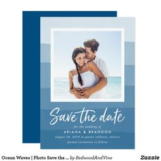 Ocean Waves | Photo Save the Date Card