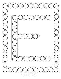 DotMini-E Alphabet Activities, Craft Activities For Kids, Writing Activities, Preschool Activities, Dot Letters, Early Childhood Activities, Preschool Colors, Do A Dot, Learn Quran