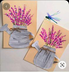 Spring Art Projects, Spring Crafts For Kids, Summer Crafts, Art For Kids, Kindergarten Art, Preschool Crafts, Kid Crafts, Arts And Crafts, Paper Crafts