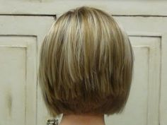 Back View of a Cut and Style Aline Bobcut Hairstyle