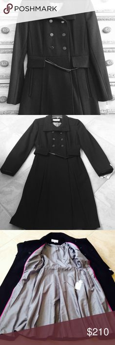 Calvin Klein coat Brand new Calvin Klein coat. 100% authentic, size 6, shell: 60% wool 25% polyester 10% Rayon 5% others. Lining % polyester Calvin Klein Jackets & Coats Trench Coats