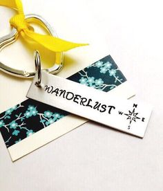 Wanderlust Keychain, Traveler Keychain, Love of Travel Keyring, Traveler's Jewelry, Gift for Traveler, Wanderer