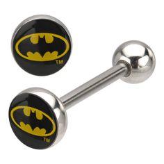 Batman Logo Tongue Barbell - 14g