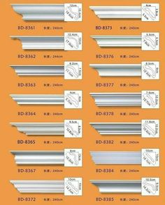 How to Install Easy Crown Molding - Decor Units Types Of Crown Molding, Easy Crown Molding, Moldings And Trim, Crown Moulding Diy, Cornice Moulding, Molding Ideas, Moulding Profiles, Trim Work, Interior Trim