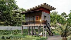 Art Shed, House On Stilts, A Frame Cabin, Santorini Greece, My Dream Home, Bungalow, Tiny House, Gazebo, Beach House