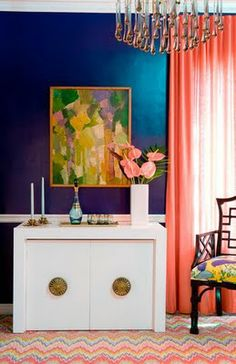 Go Bold! Great colors, love a textile floor