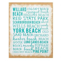 "One of my favorite discoveries at ChristmasTreeShops.com: 16""x20"" Maine Beaches Indoor/Outdoor Canvas Wall Decor"