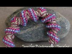 Celini zig zag tubular bracelet tutorial - YouTube