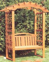 Delicieux Garden Trellis Designs Garden Arbor With Bench Project Woodworking Plan