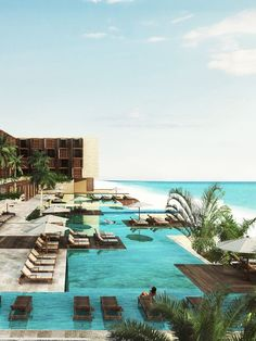 Luxury Beachfront Resort in Playa del Carmen Vacation Resorts, Best Vacations, Vacation Destinations, Vacation Spots, Maui Vacation, Beach Hotels, Beach Resorts, Hotels And Resorts, Top Hotels
