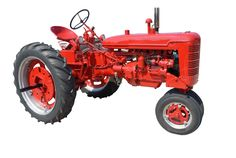 #automobile #automotive #drive #engine #equipment #farming #machine #machinery #red #red tractor #tire #tractor #transportation #vehicle #wheel