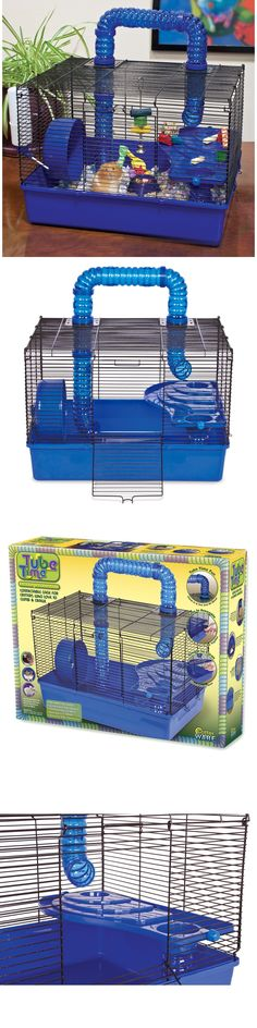 Cages and Enclosure 63108: Wire Hamster Cage Toy Pet Tube Mice Gerbil Small Animal Mouse House Dwarf Metal -> BUY IT NOW ONLY: $46.99 on eBay!