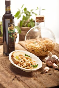 Fagioli nell 'fiasco' from Tuscany. Finish with a generous drizzle of Gran Cru Toscano EV.