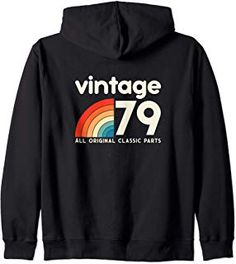 Birthday Gift Retro vintage classic 40 years old 1979 Zip Hoodie Unique Birthday Gifts, 40th Birthday Gifts, Urban Street Style, 40 Years, Hoodies, Sweatshirts, Fashion Advice, Zip Hoodie, Everyday Fashion