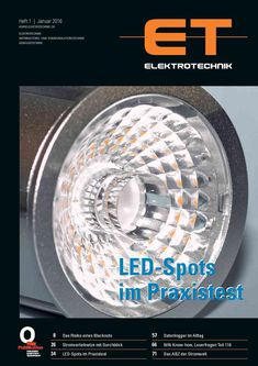 LED-Spots im Praxistest ET ELEKTROTECHNIK Januar 2016 Led Spots, Engineering, January