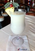 Head straight to the tropics with this Caribbean Colada at the RedFrog Rum Bar aboard the #CarnivalSunshine.     Ingredients:     1 oz Dark Rum  1 oz Vanilla-Flavored Rum  2 oz Frozen Banana Daiquiri Mix  0.5 oz Frozen Piña Colada Mix  1 oz Pineapple Juice  1 cup Ice    Pour all ingredients in a blender. Add ice and blend until smooth. Pour into a tall glass and garnish with a pineapple, cherry, and (of course) an umbrella.