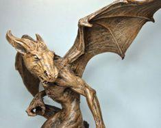 Raven Statue by Dellamorteco on Etsy