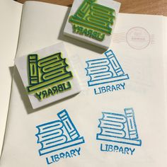 #Book #library #rubberstamp #stamp #diystamp