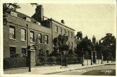 c1920 - Church Row houses (1695-1935) which stood on the site of the Tudor Manor House where the Town Hall is today