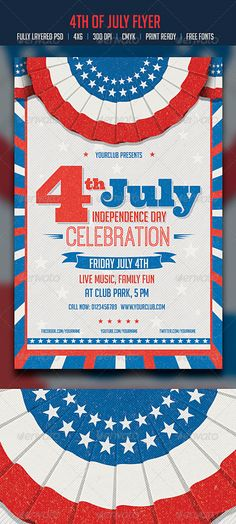 31 best july 4th images in 2018 event flyers business flyer