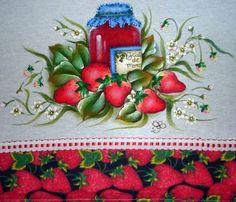 pintura em tecido pote geléia