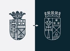 Biblioteca Lancisiana on Behance. A great example of what can be done with an old-fashioned coat of arms. I'm a big fan of the updated design. It's a similar idea to the New York Public Library's - updating an old-fashioned and traditional logo to a modern day equivalent.