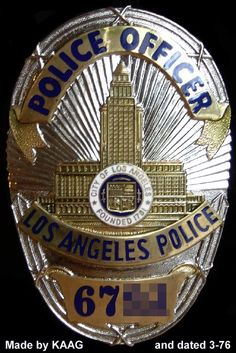 A Los Angeles Police Department (LAPD) officer was reportedly injured from a vehicular accident that happened at Encino. Lapd Badge, Police Badges, Armadura Ninja, Police Family, Law Enforcement Badges, Los Angeles Police Department, Money Notes, Police Dogs, Document