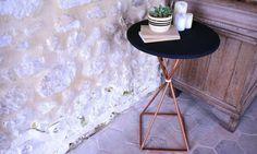 Récup' : une table en tuyaux de cuivre