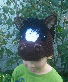 Crochet Horse Hat Childs costume hat photo by BellaBeansCrochet